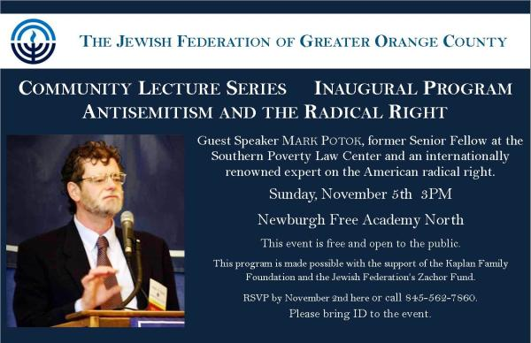 "Speech: ""Anti-Semitism and the Radical Right"""