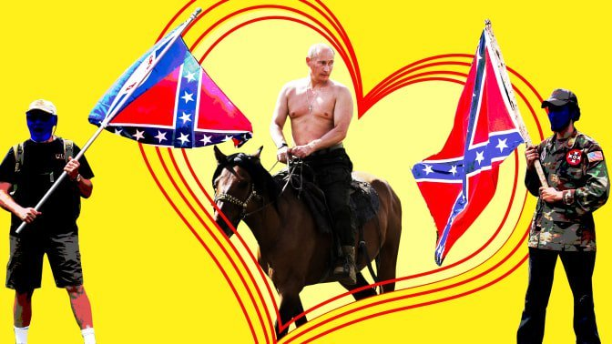 """To Russia With Love: U.S. Extremists Are Mad About Vlad"""